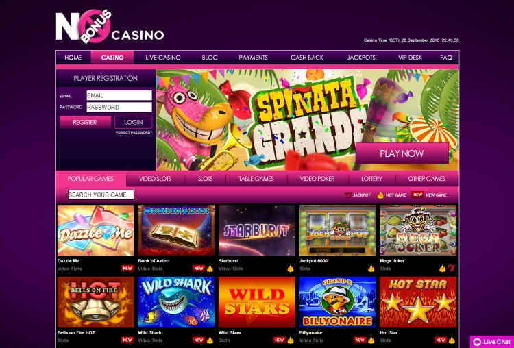Casino No Bonus