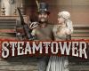 Steam Tower Slot Logo