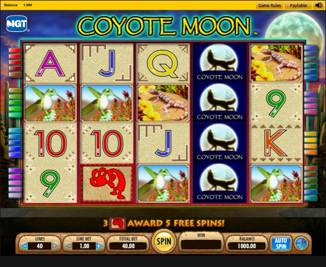 Coyote Moon slot review IGT