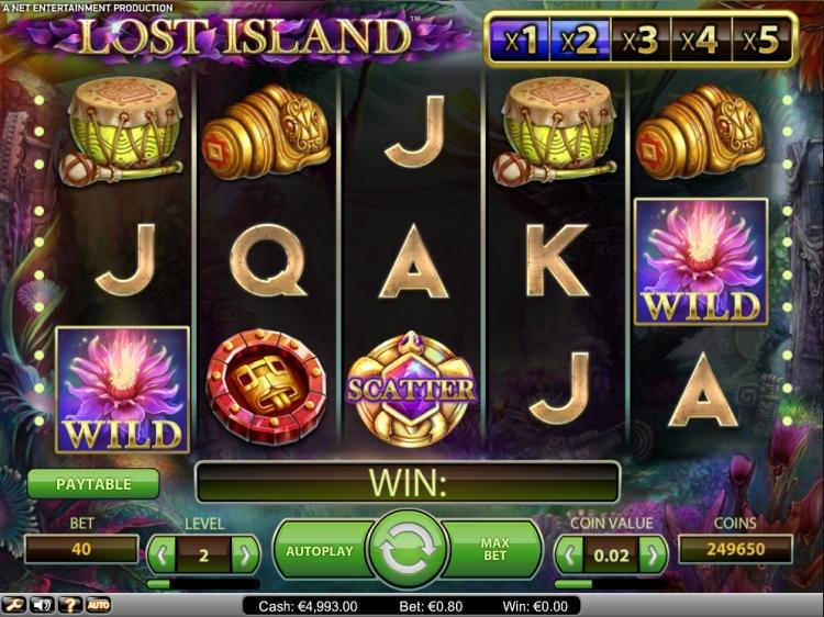 Lost-Island-slot-netent screen