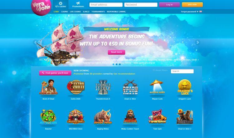 Vera John casino review uk