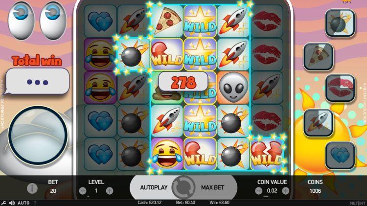 Emoji planet Netent big win
