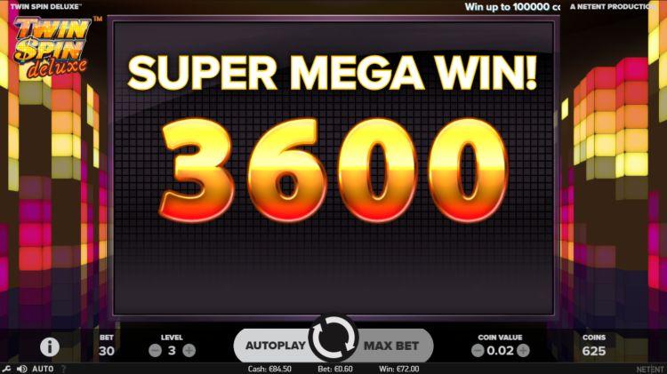 Twin Spin Deluxe Netent super mega win