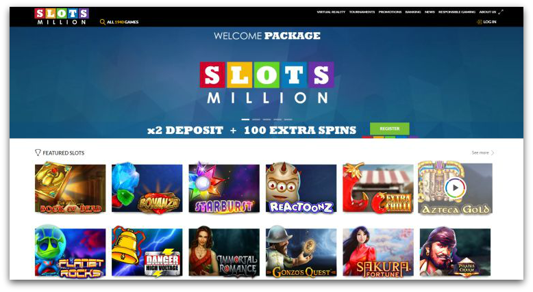 Slots Million best UK casino 2018