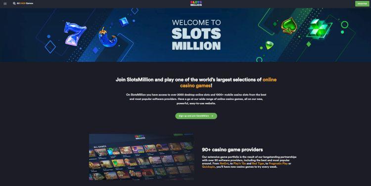 Slots million review UK