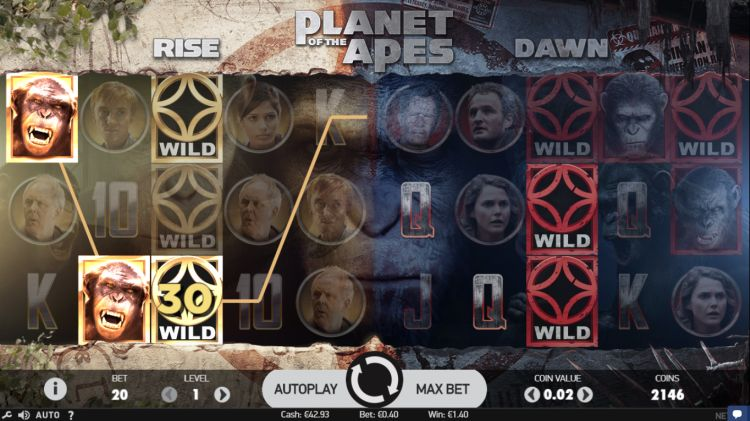 Planet of the Apes Free Play Slot