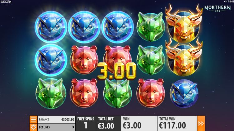 Northern Sky slot review Quickspin bonus