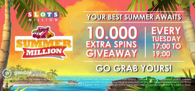 Slots million summer promo