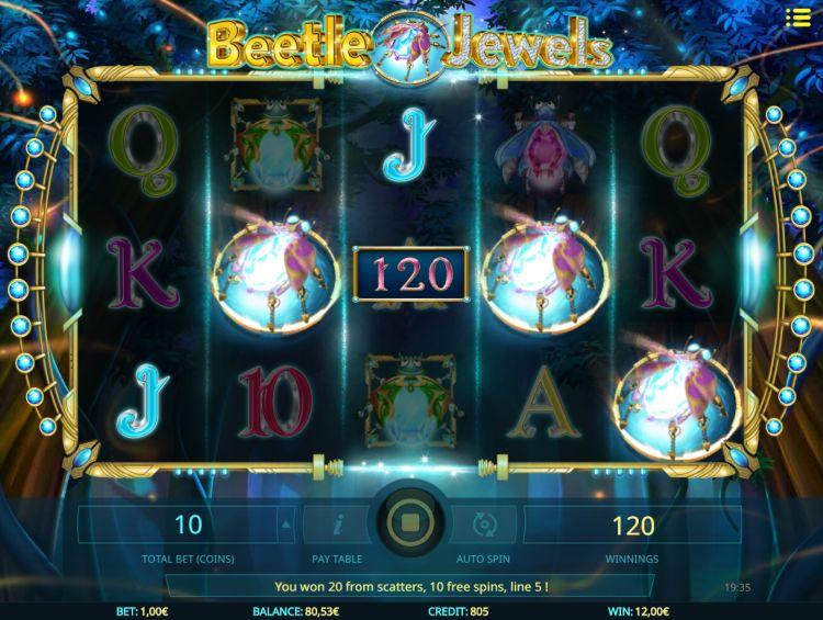 beetle-jewels video slot isoftbet bonus trigger