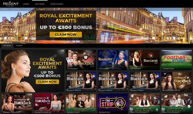 Regent Casino review uk live casino
