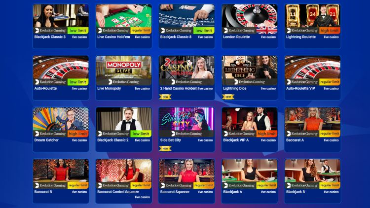 All British Casino review live casino